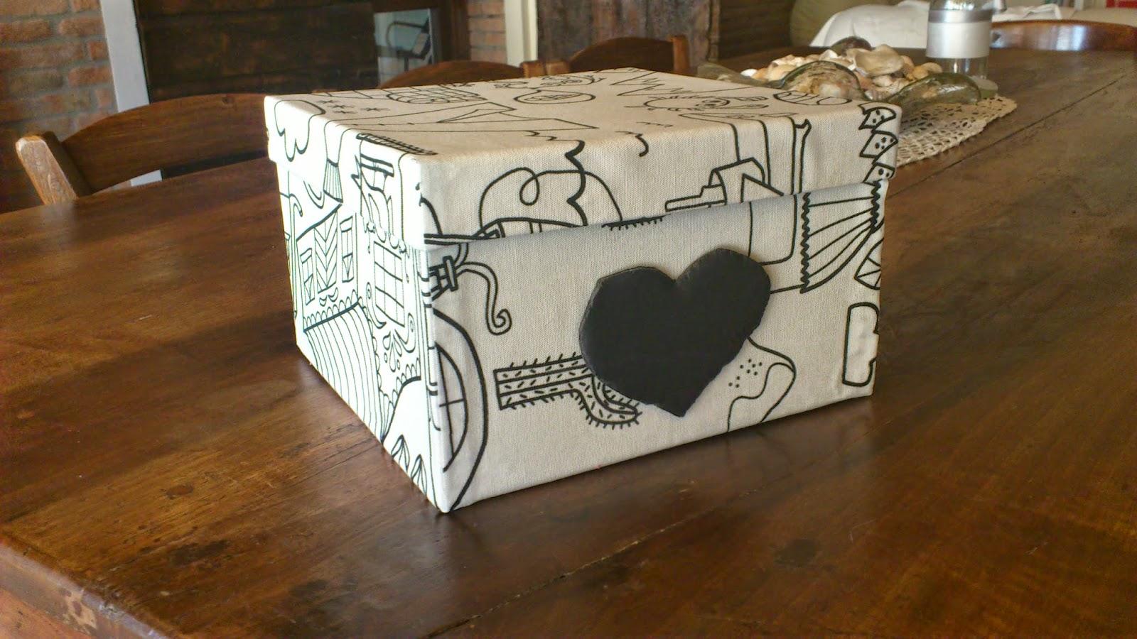 Le clementine come riciclare una scatola for Foderare una scatola