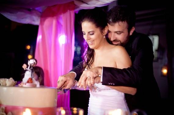 Real wedding cake topper