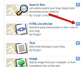 How to add html or javascript code in blogger