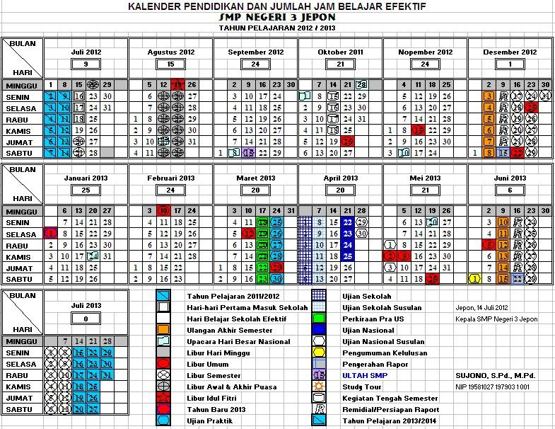 Download Kalender Pendidikan Tahun Pelajaran 2013 2014 Blog