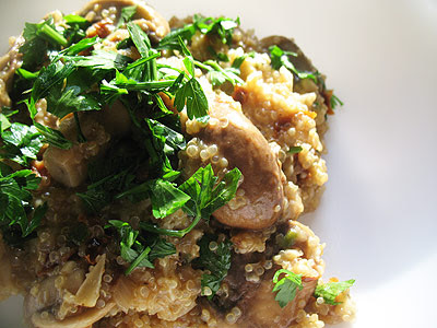 quinoa with Parmesan cheese