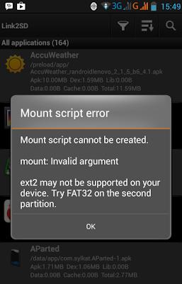 Cara Menjalankan Link2SD Card Untuk Memindahkan Aplikasi Android ke SD Card 2
