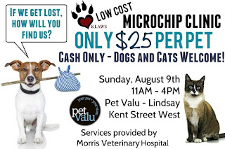 image   Kawartha Lakes Animal Welfare Society Low-Cost MicroChip Clinic Poster