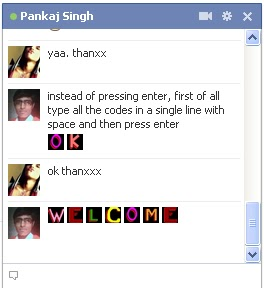 Colorful Alphabet Emoticons For Facebook Chat