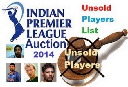 Unsold Players in IPL 2014