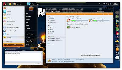 Merubah Tampilan Windows 7 Menjadi Angry Bird