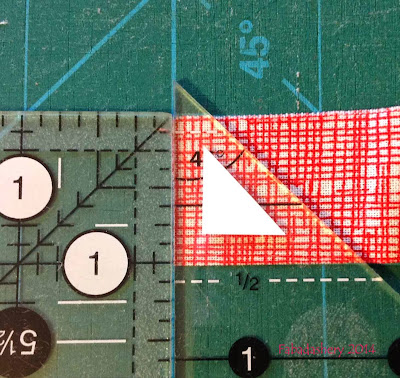 1/4 inch seam allowances - even on the smallest of pieces