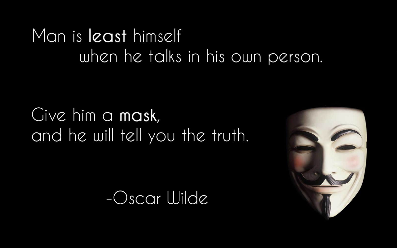 V For Vendetta Mask Wallpaper Quotes anonymous hacker