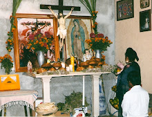 Altar at Edmundo Montano family