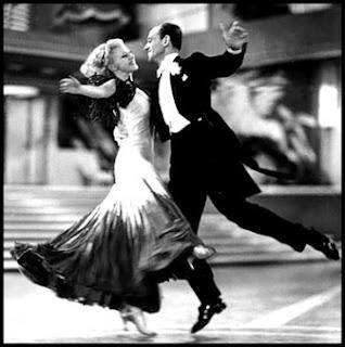 Ginger Rogers y Fred Astaire en La alegre divorciada