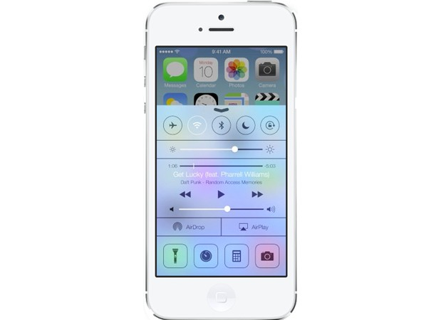 control center in ios 7 on iphone