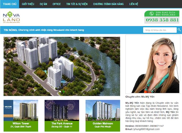 Thiết kế website bất động sản sannovaland.net