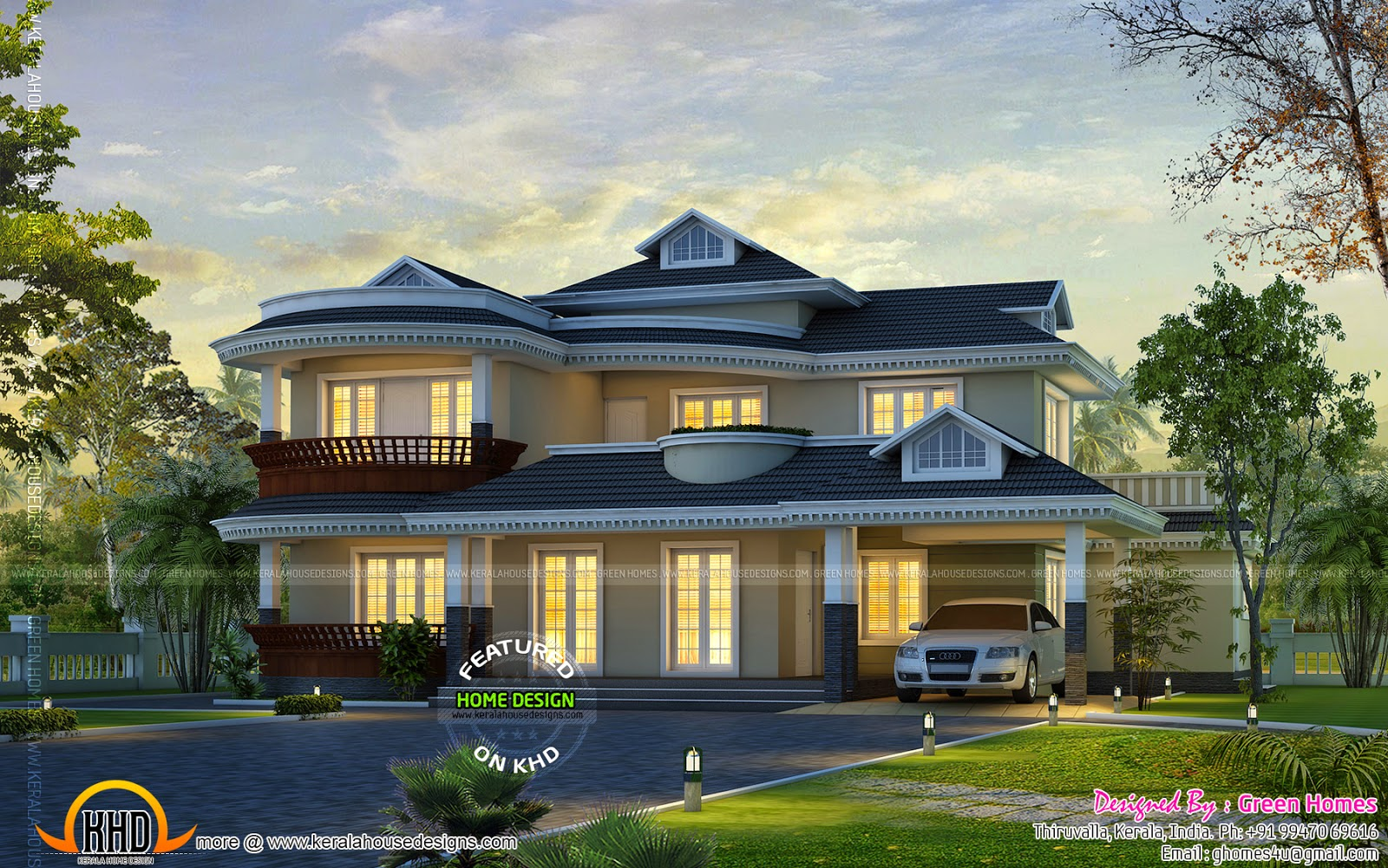 Dream home design - Kerala home design and floor plans