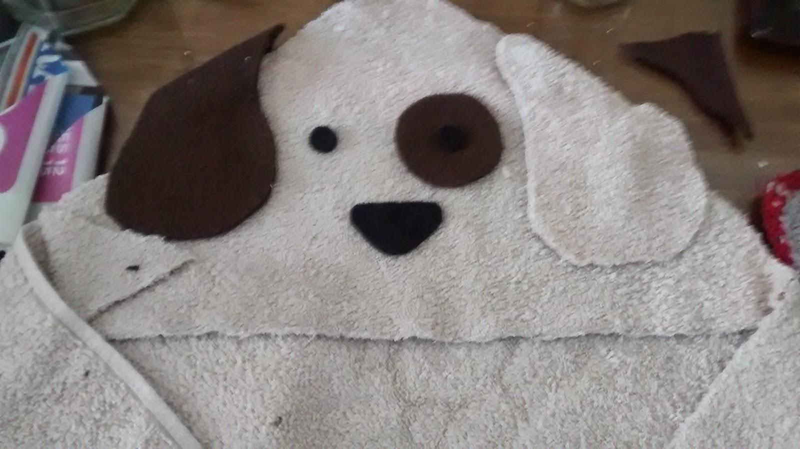 Mundo tapioca toalla con capucha de perro para bebe for Colgador de toalla para bano