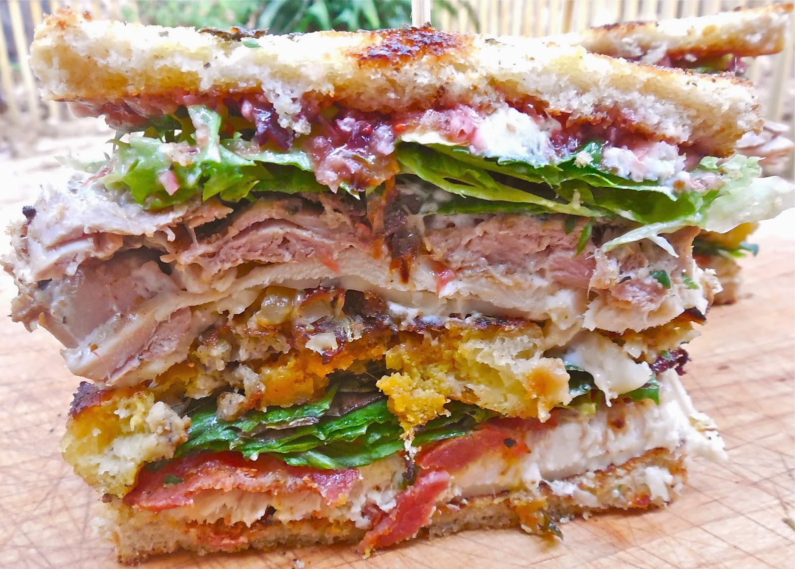 Haute + Heirloom: Triple Decker Turducken Club Sandwich with a Trio of ...