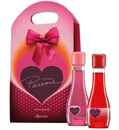 Oleos de massagem Hot e oleo de banho perfumado Cold Kit Passione O Boticario