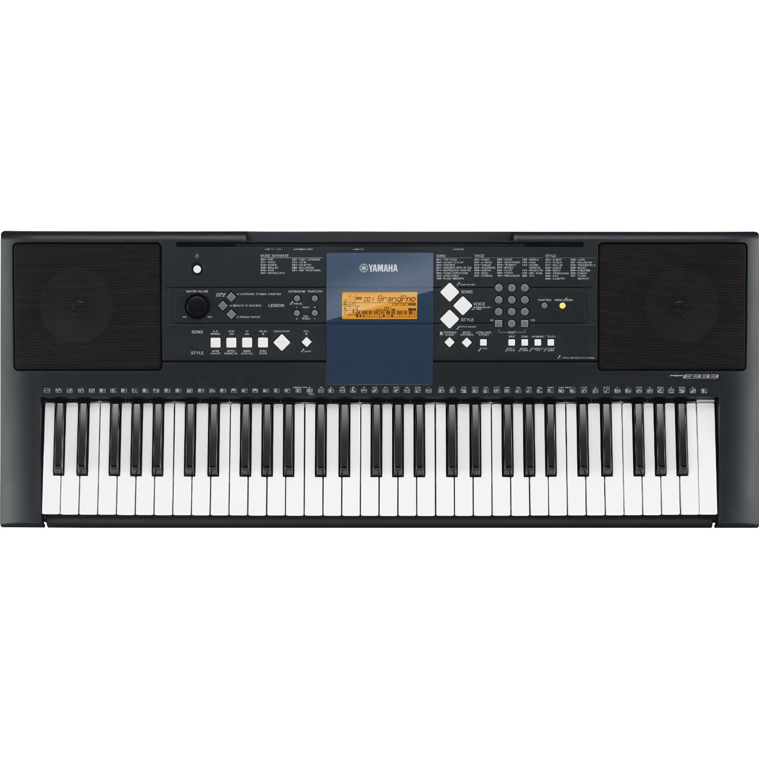 yamaha psr e333 portable keyboard review james musical. Black Bedroom Furniture Sets. Home Design Ideas