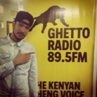 PHOTOS!! Reggae artist Million STYLEZ was in KENYA….Ghetto radio