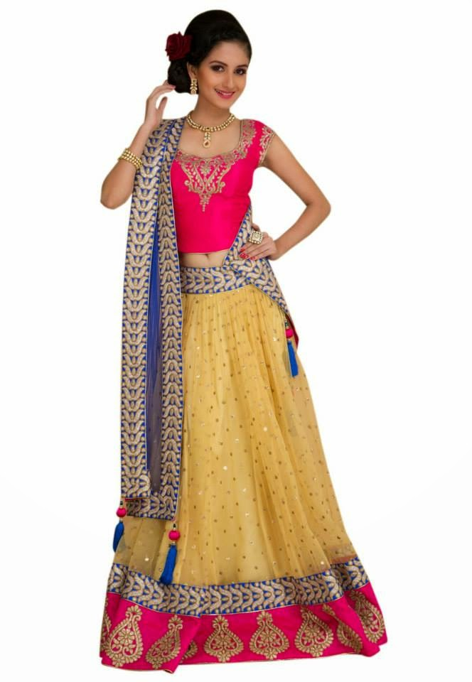 New Net Lehenga Choli 2014-15