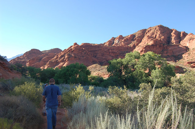 Beginning Our Hike at the Trailhead of the Red Cliffs Nature Trail North of St. George Utah