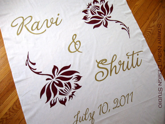 Wedding Aisle Runner with South Asian Influence
