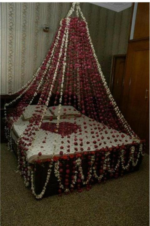Wedding beds decorations dulha amp dulhan