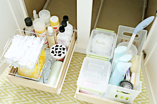Organizzare I Cassetti Del Bagno : Trucchi per tenere in ordine un bagno molto piccolo home