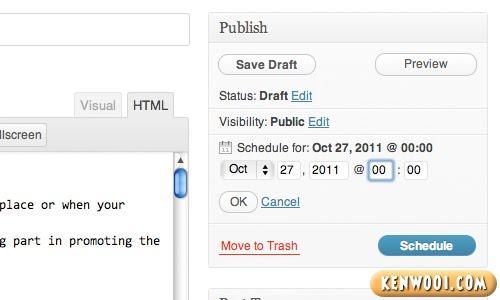 set publish time