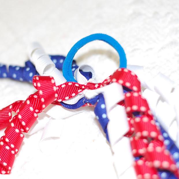 polka-dot umbrella curly ribbon