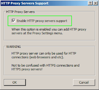 enable http proxy servers support on proxifier