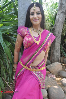 Anusmriti Latest Pictures in Saree at Heroine Movie Opening  0023.jpg