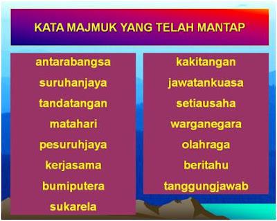 Tatabahasa Bahasa Melayu Kata Majmuk