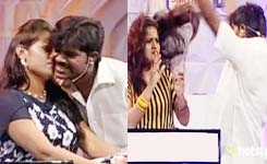 Athu Ithu Ethu 06-06-2015 Bad Worst Behaviour By Dhivakar In Siricha Pochu Round Vijay Tv Touching Females And Kissing 06th June 2015 Youtube Watch Online