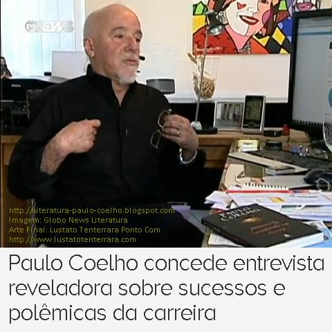 Paulo Coelho em seu gabinete em Genebra, na Suíça, concede entrevista ao Globo News Literatura