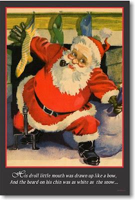 Santa down the Chimney poster