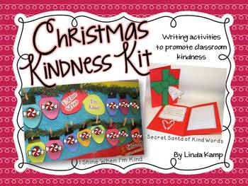 http://www.teacherspayteachers.com/Product/Christmas-Kindness-Kit-2-Writing-Crafts-Display-459706