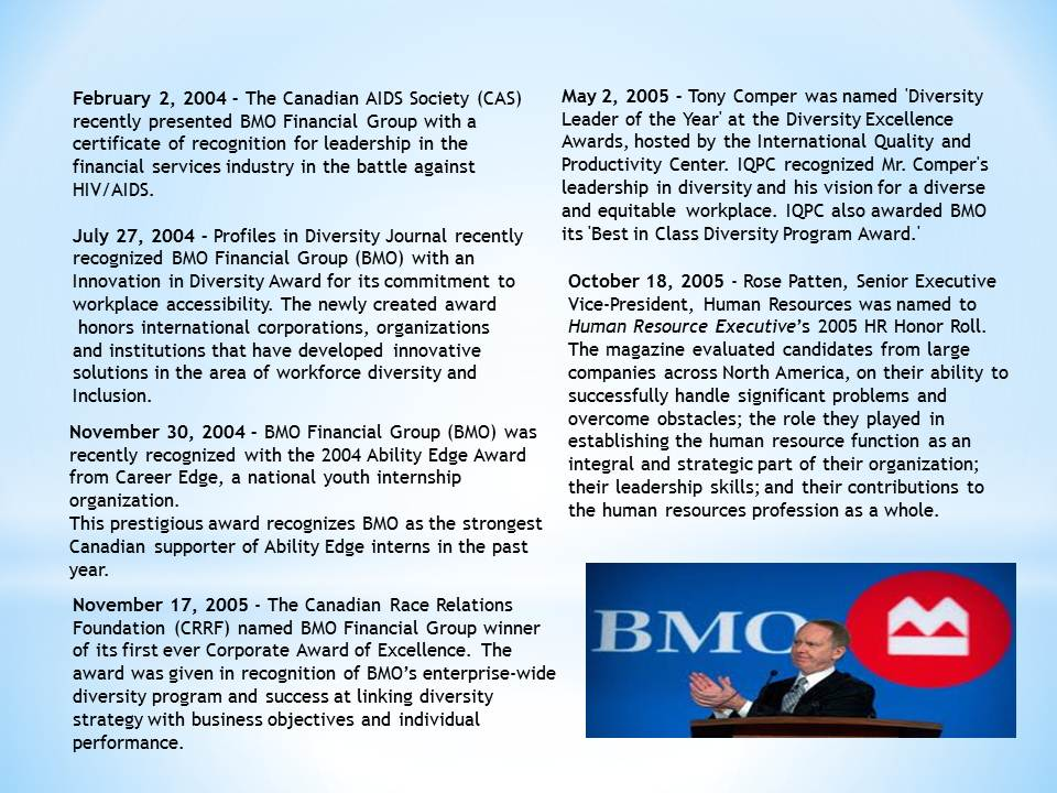 Bmo financial history review packets