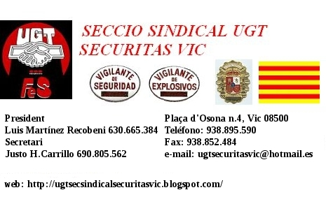 UGT seccion sindical Securitas Vic (Barcelona)