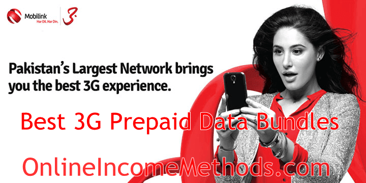 Best Mobilink 3G Prepaid Data Packages and Bundles