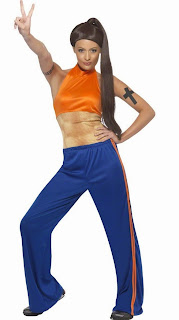 Sporty Power Spice Girl Costume