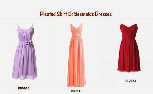 pleated skirt bridesmaids dresses from redbd.co.uk