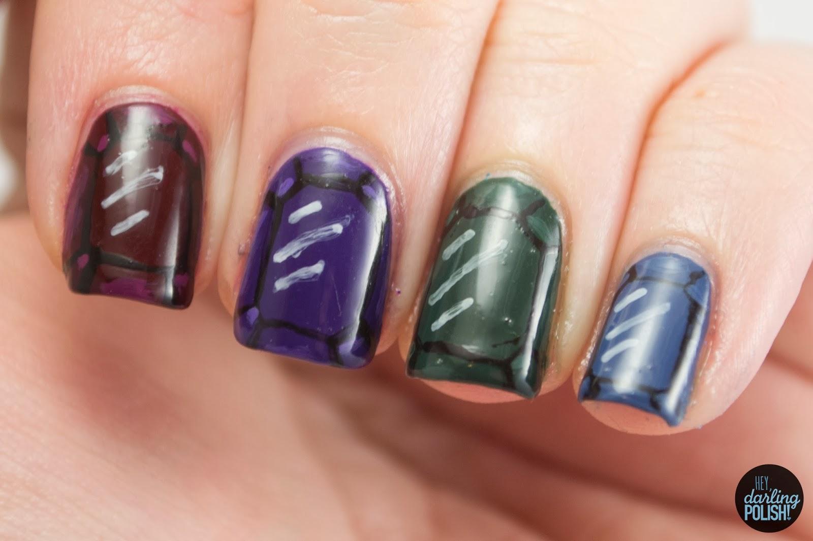 nails, nail art, polish, nail polish, jewels, gems, jewel tones, nail-art-a-go-go, challenge, hey darling polish