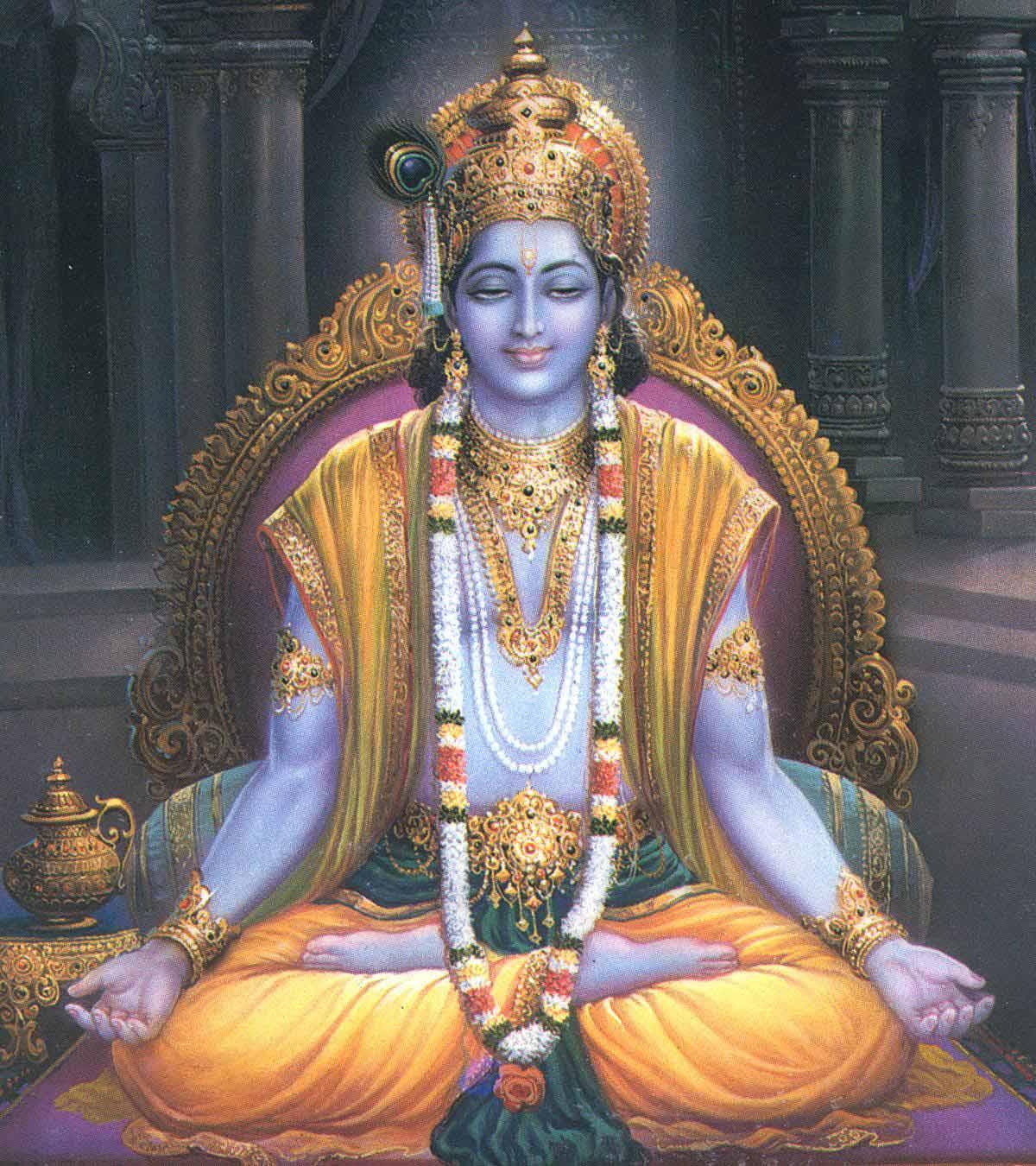 Lord Krishna Doing Meditation Latest Krishna Wallpaper And Krishna