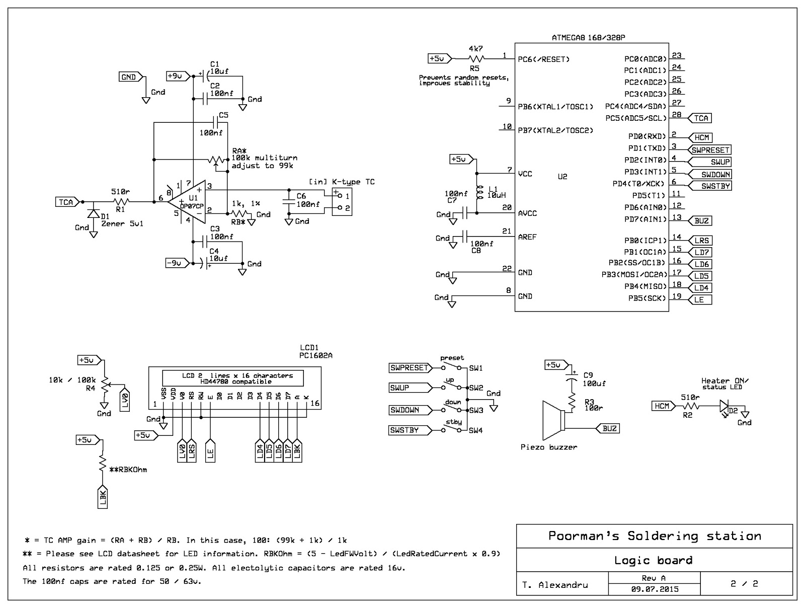 Poorman U0026 39 S Electronic Projects  2  The Schematics    Circuit