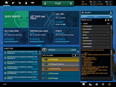 Ghost Recon Online - Chat Interface