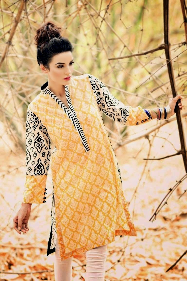 Lawn Kurti with Tights