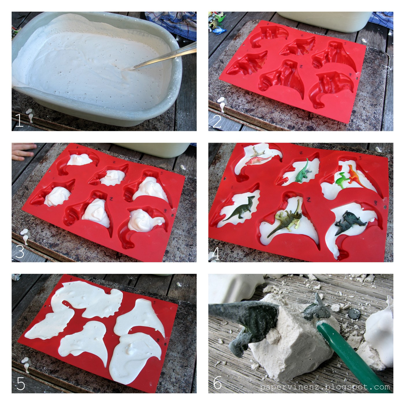 mix up the plaster of paris according to instructions place your mold ...