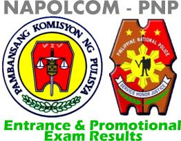 Napolcom PNP Entrance Exam Results