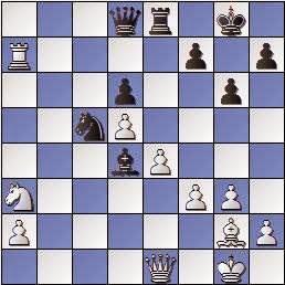 Partida de ajedrez Scheltinga vs. Lladó 1957, posición después de 27…Ad4+
