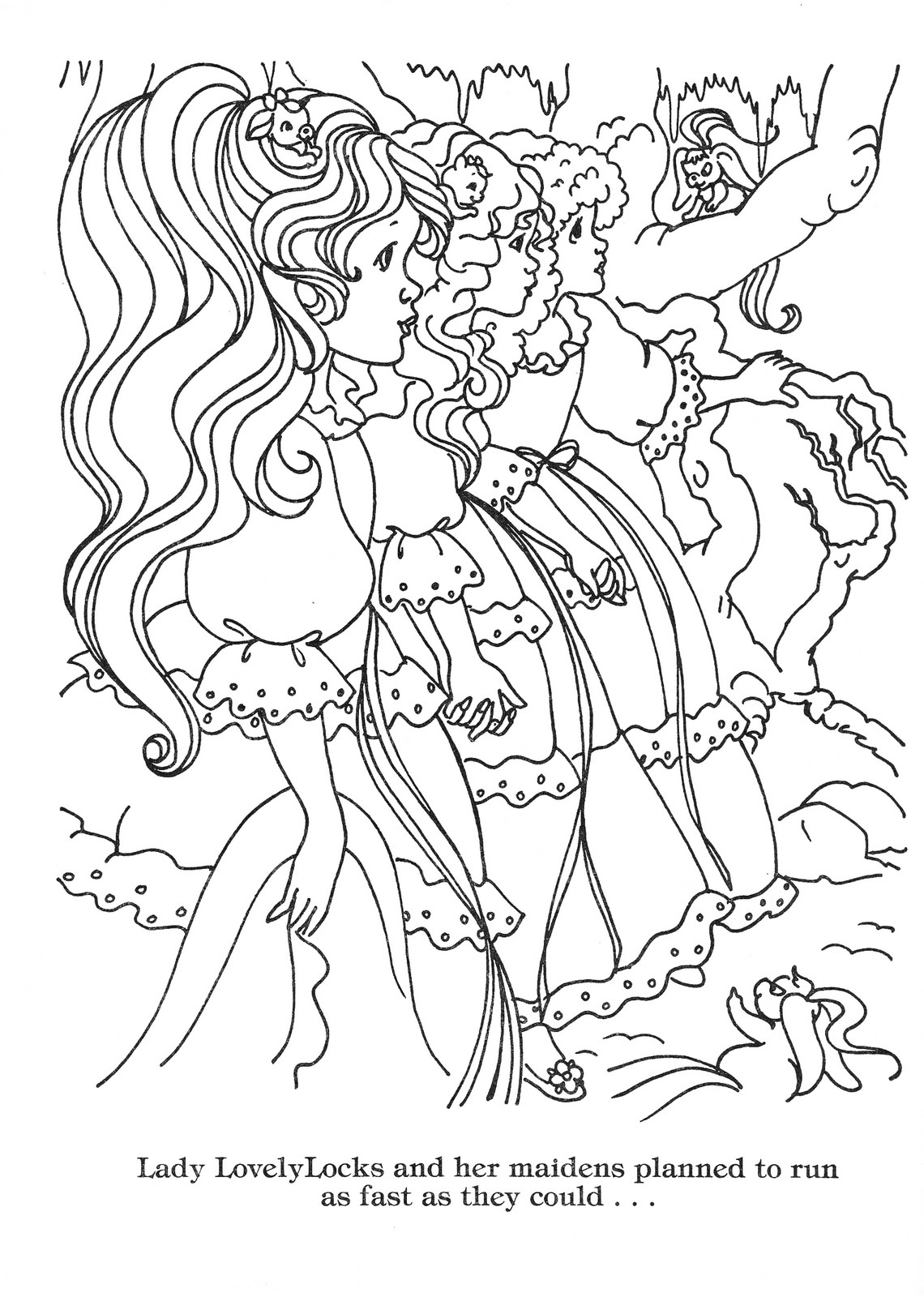 Lady coloring pages